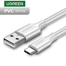 Оригинальный кабель UGREEN US287 Type-C Fast Quick Charge 3A быстрая зарядка 3A Black 60116, фото 3