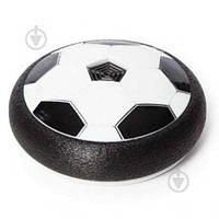 Футбольный мяч футболайзер для дома с подсветкой и музыкой Hoverball черный