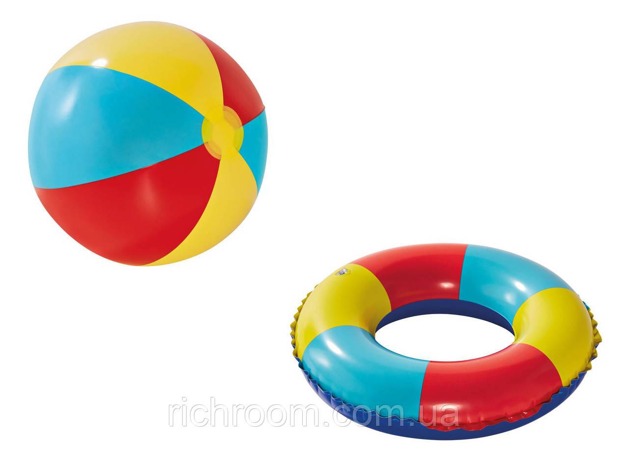F1-01096, Надувной мяч и круг, набор пляжный Crivit