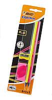 F1-01136, Канцелярский набор BIC Evolution (2 простых карандаша, ластик, точилка), , розовый-желтый