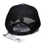 Мужская бейсболка Lacoste кепка тракер с сеткой черная Лакоста  Турция Красивая Брендовая Стильная реплика, фото 3