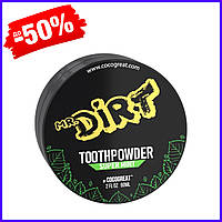 Зубной порошок для отбеливания зубов Cocogreat mr.Dirt, средство для ухода и гигиены полости рта с глиной 30 г