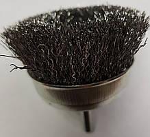 Щетки по металлу для дрели чашечная гофрированная 75х 6