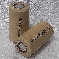 Аккумуляторы для шуруповерта  SC NiCd 1.2v P - 1500mAh 1.2v