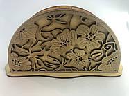 Деревянная салфетница Цветочек (Р-138)