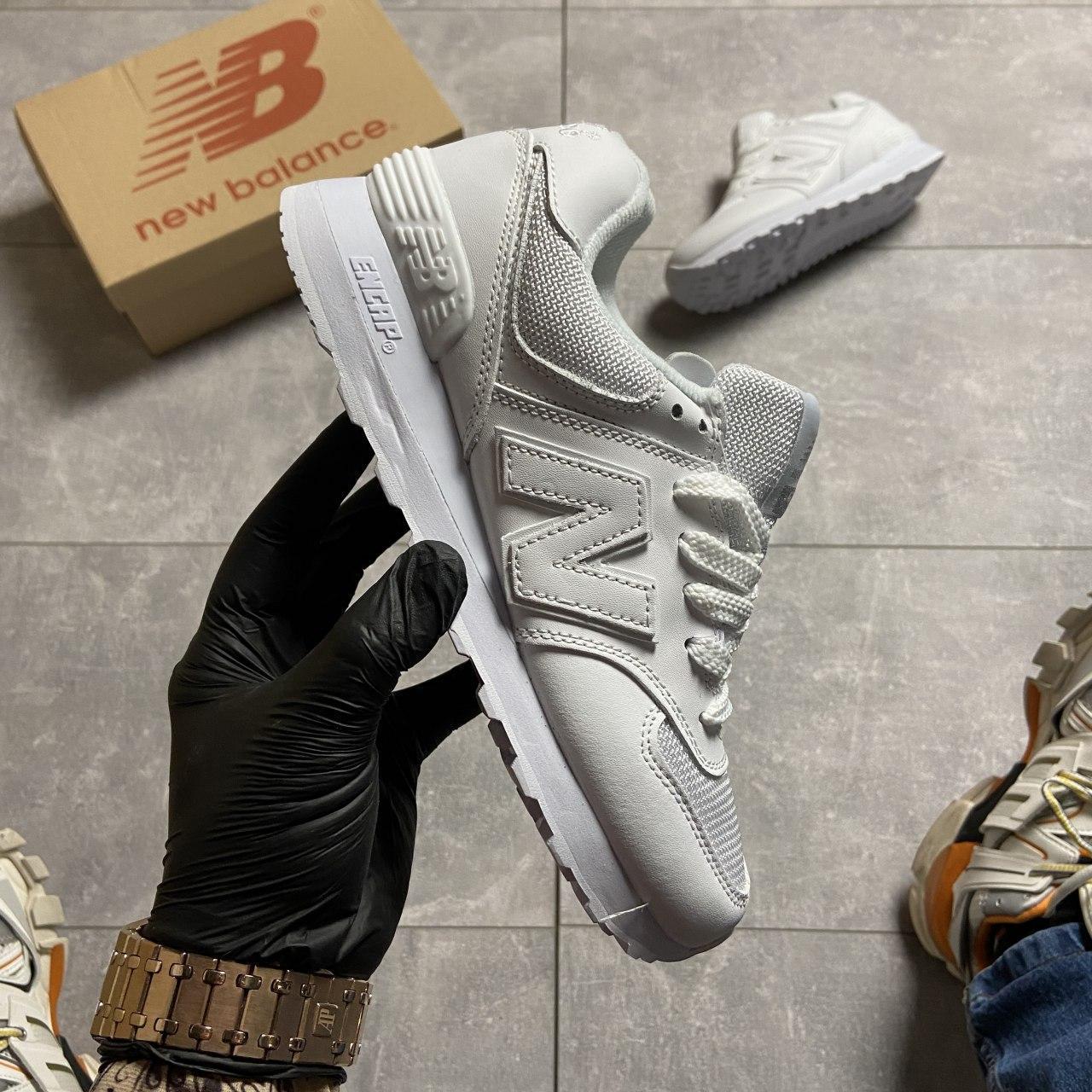 🔥 ВИДЕО ОБЗОР 🔥 Кроссовки New Balance 574 White Leather 🔥 Нью Бэланс 🔥 Нью Беленс мужские кроссовки🔥