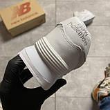 🔥 ВИДЕО ОБЗОР 🔥 Кроссовки New Balance 574 White Leather 🔥 Нью Бэланс 🔥 Нью Беленс мужские кроссовки🔥, фото 4