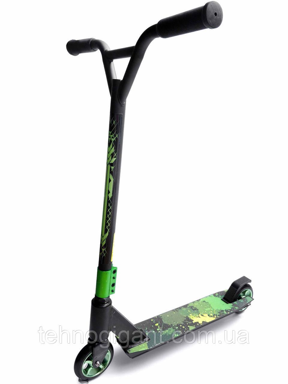 Трюковый Самокат от Scooter – Stunt Step 110 мм Зеленый , колеса алюминий/полиуретан