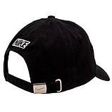 Мужская кепка Nike бейсболка черная Найк 100% Хлопок Турция Качество Брендовая VIP Стильная Молодежная реплика, фото 3