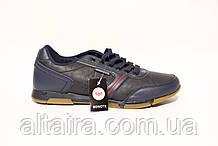 Синие мужские кроссовки из кожзама. BONOTE. Размеры 41-46.