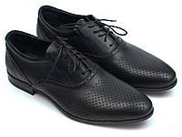 Мужские туфли летние кожаные классические обувь с перфорацией Rosso Avangard Felicite BlackPerf, фото 1