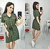 Платье-рубашка в полоску женское (ПОШТУЧНО)