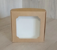 Коробка для сладостей 150*150*30 крафт