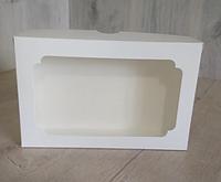 Коробка для эклеров 230*150*60 с окном белая