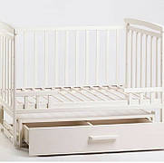 Детская кроватка-маятник со встроенным двухкамерным ящиком - 3 цвета - детская кровать-трансформер