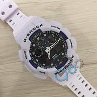 Мужские Часы Касио джи-шок Casio G-Shock GA-100 \ Белые\ спортивные \ ремешок \ чоловічий годинник