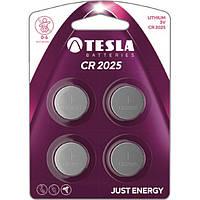 Батарейка Tesla CR2025 4 шт.