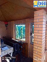 Двустворчатые окна ламинированные в массе, фото 3
