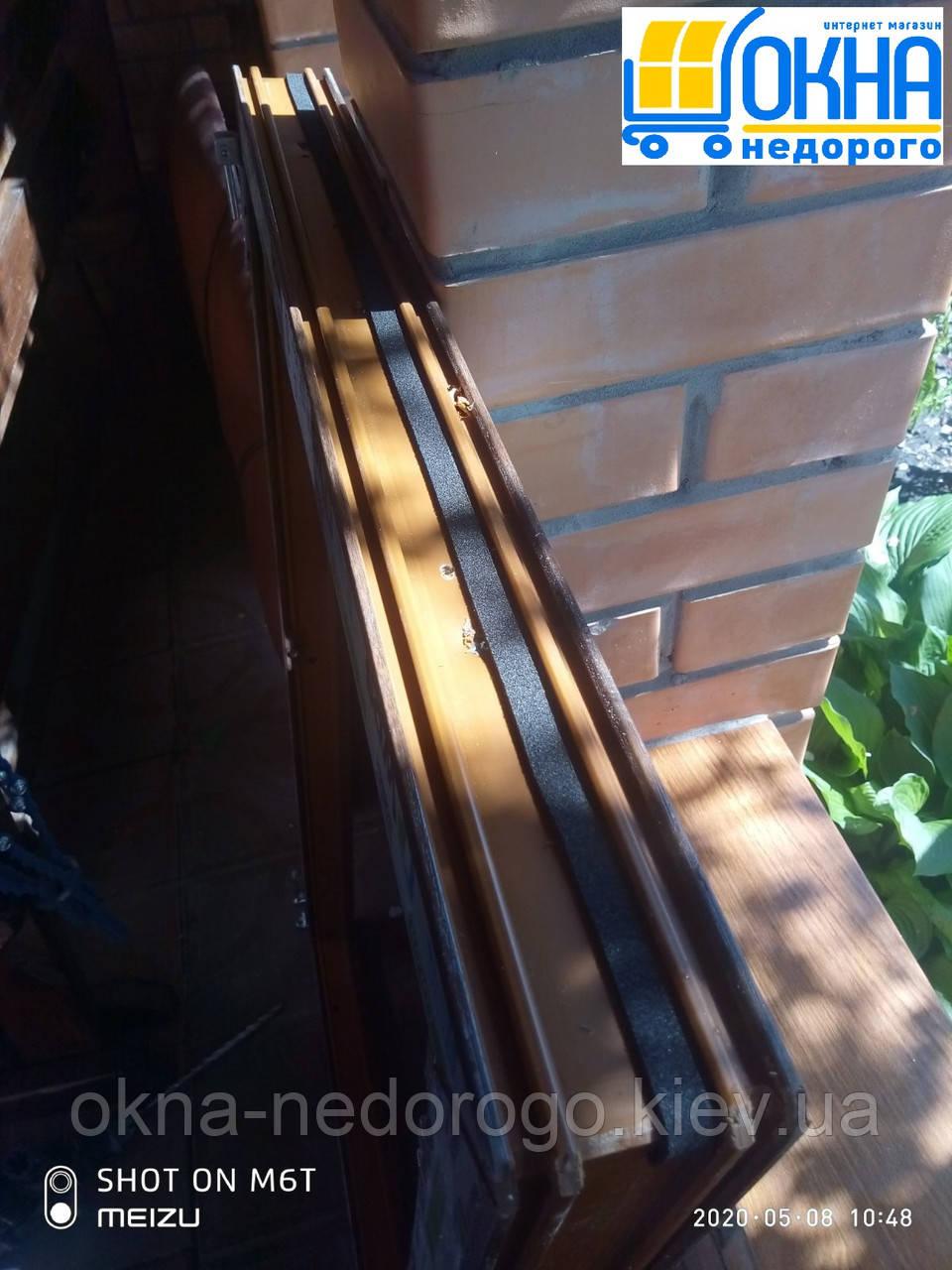 Двустворчатые окна ламинированные в массе