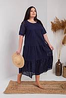 Женское летнее платье батал из натуральной ткани
