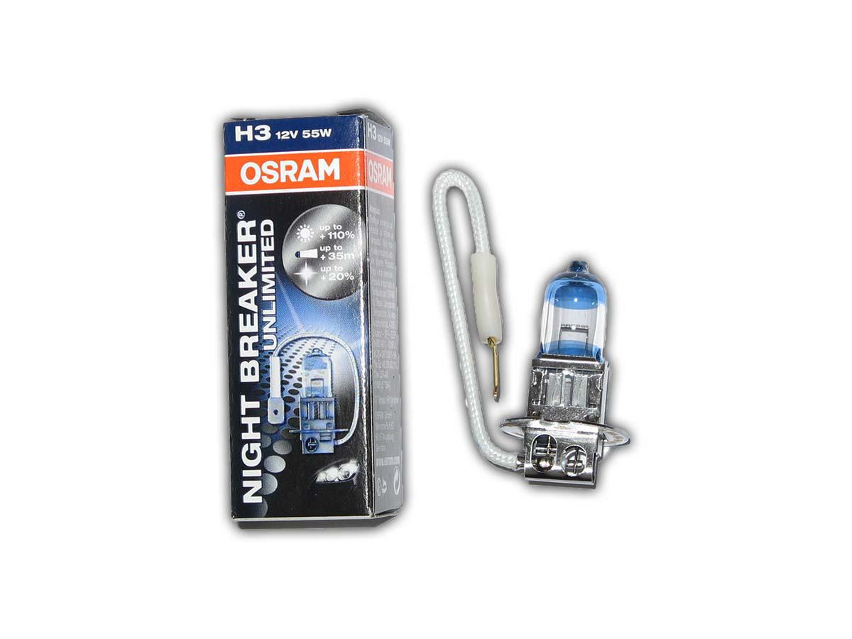 Галогенка H3 OSRAM 12V 55W +110% 64151 NBU Unlimited