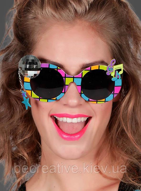 Карнавальные очки 1970-х годов в стиле диско