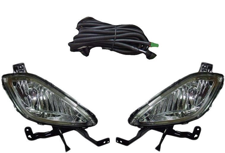 Дополнительные фары противотуманки модель Hyundai Elantra/2011/HY-473W/эл.проводка