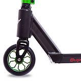 Трюковый Самокат отScooter–D090, 110 мм Зеленый , колеса алюминий/полиуретан, фото 2