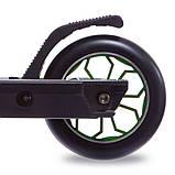 Трюковый Самокат отScooter–D090, 110 мм Зеленый , колеса алюминий/полиуретан, фото 4