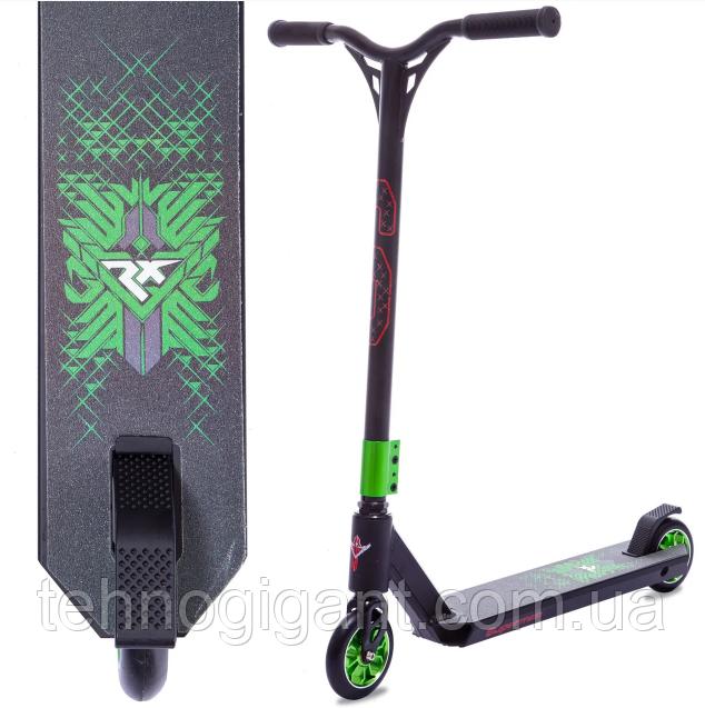 Трюковый Самокат отScooter–D090, 110 мм Зеленый , колеса алюминий/полиуретан