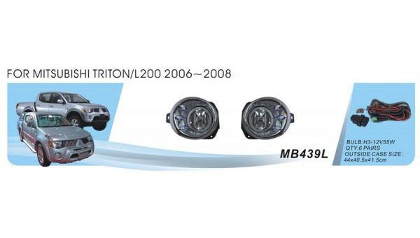 Дополнительные фары противотуманки модель Mitsubishi Triton/L200 2006/MB-439LW/Led/эл.проводка