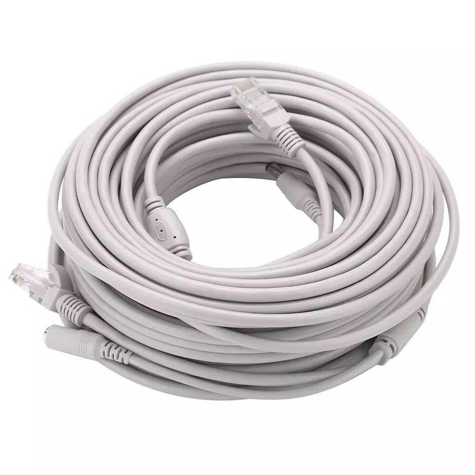 Кабель Ethernet RJ45+питание постоянного тока 30 метров. CCTV кабель RJ45. Штекера для камеры видеонаблюдения