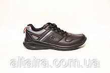 Мужские черные кроссовки из кожзама. Размеры 41-46.