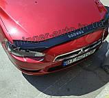 Мухобойка, дефлектор капота Mitsubishi Lancer X 2007- (VIP), фото 3