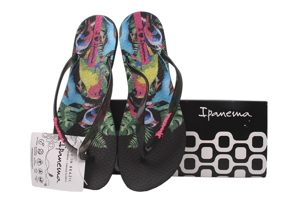 Шлепанцы (вьетнамки) женские резиновые Ipanema, цвет черный Бразилия