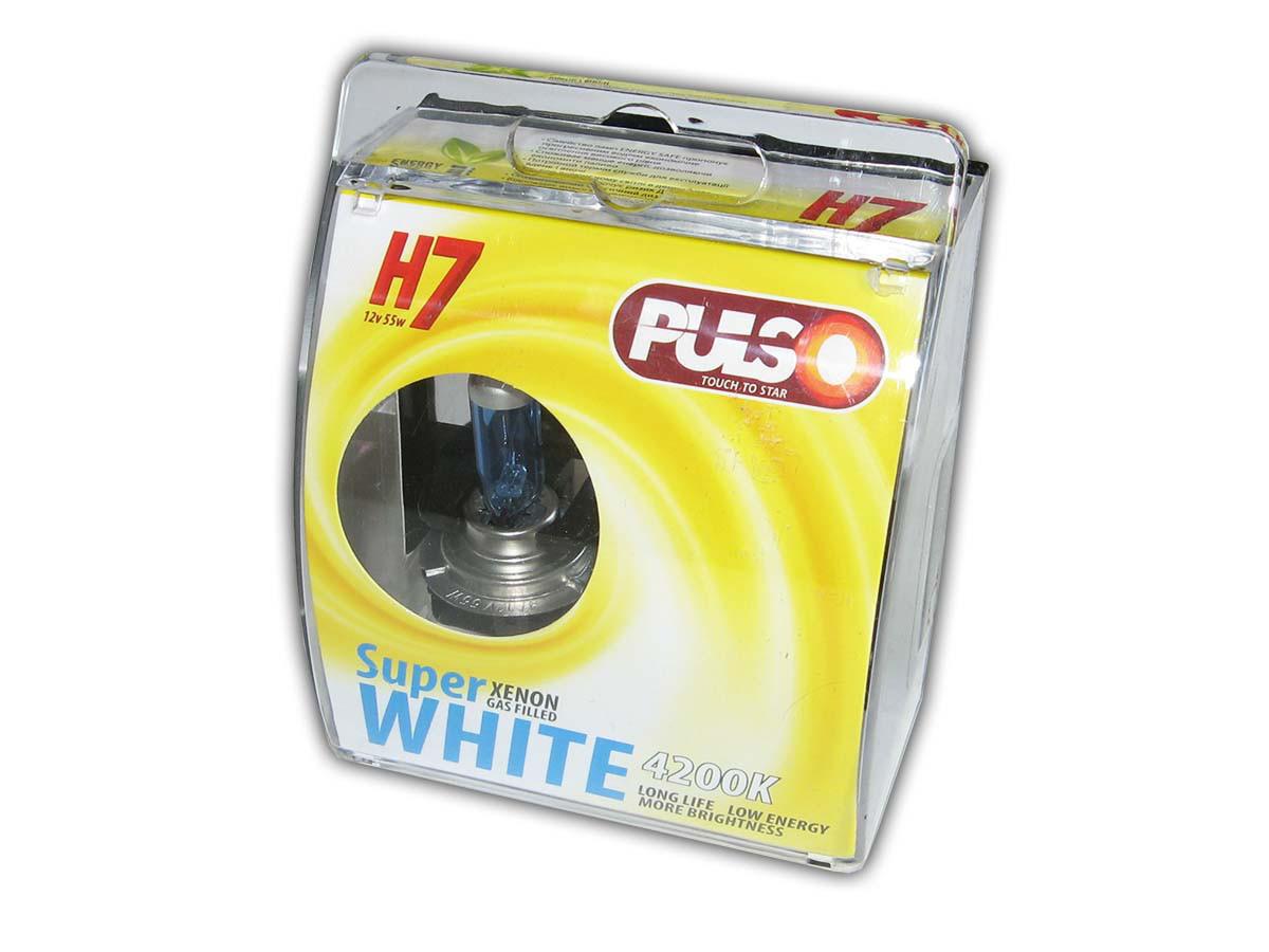 Галогенка H7 PULSO 12V 55W LP-72551 Super white/ пластик