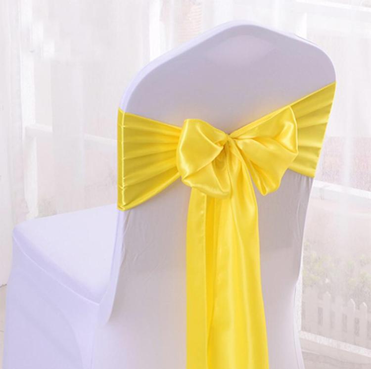 Бант для стула Атласный, Желтый (25*280см)