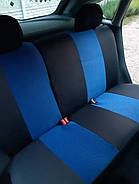 Авточехлы Nissan Micra (K13) с 2010 г (цельная) синие, фото 3