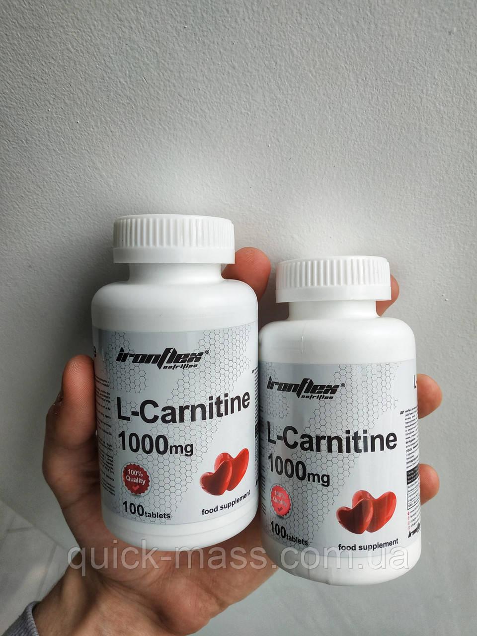 Жиросжигатель л-карнитин Ironflex L-Carnitine 1000 100tab