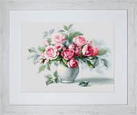 Набор для вышивки крестом Luca-S B2280 Этюд с чайными розами