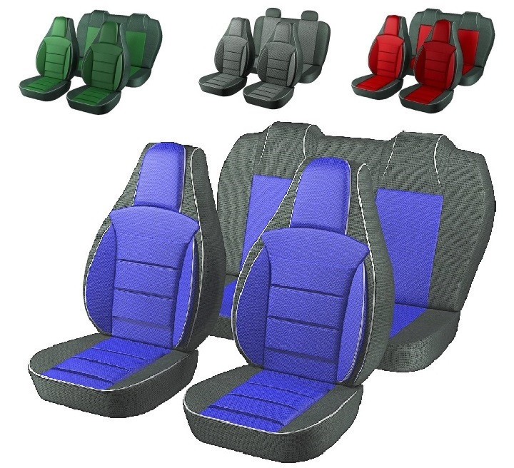 Чехлы сидений Ваз 2107 Синие