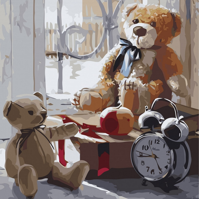 Картина по номерам  Игрушки детства ТМ Идейка 30 х 30 см КНО2333