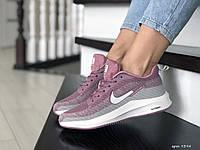 Мужские кроссовки Nike Flyknit Lunar 3 фиолетовые с серым\белые
