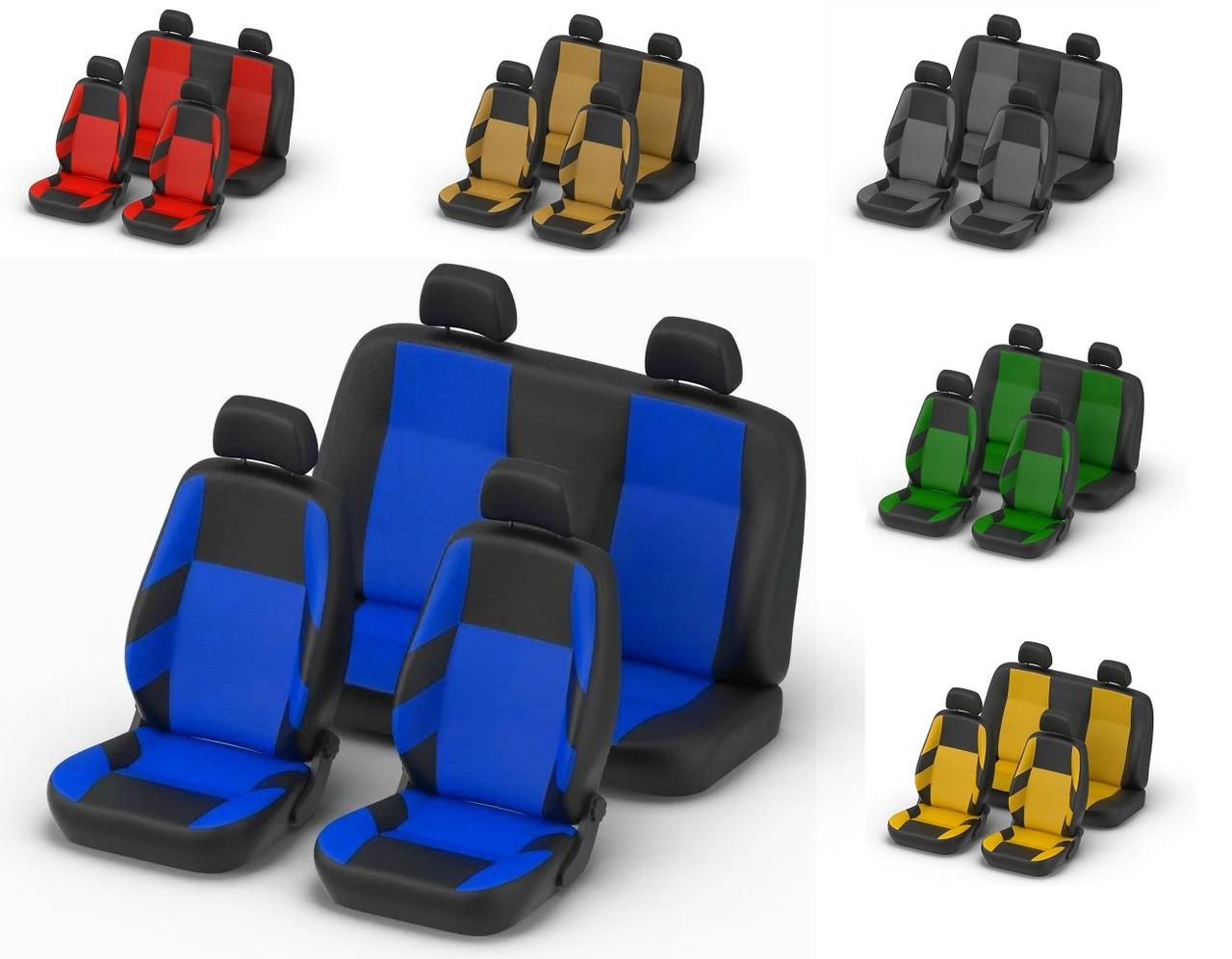 Авточехлы Skoda Fabia (5J) Hatch (раздельная) 2007 г синие