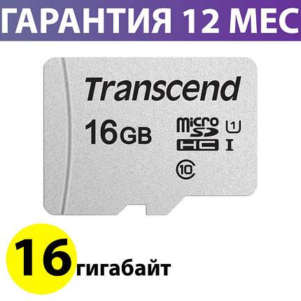 Карта памяти 16 Гб для телефона micro SD класс 10 UHS-I, Transcend (TS16GUSD300S), фото 2