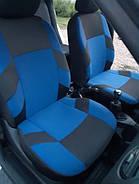 Авточохли Volkswagen Polo V sedan (цельн) з 2010 р сині, фото 2