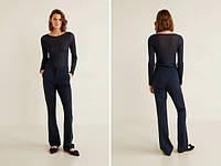 Mango классические  брюки штаны  клеш женские синие Манго