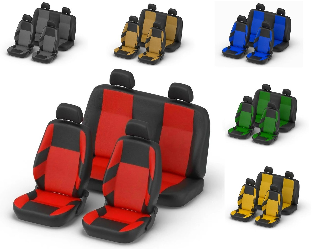 Авточехлы Volkswagen Polo V htB (цельн)  с 2009 г красные