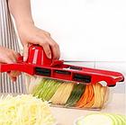 Мультислайсер Овощерезка для овощей и фруктов Mandoline Slicer 6 in 1 c контейнером, слайсер + ПОДАРОК, фото 5