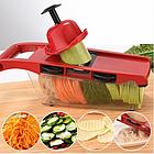 Мультислайсер Овощерезка для овощей и фруктов Mandoline Slicer 6 in 1 c контейнером, слайсер + ПОДАРОК, фото 6